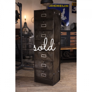 1VINTIN042 Vintage Industrial Filing Cabinet - 7 drawers Revology Concept Store NZ