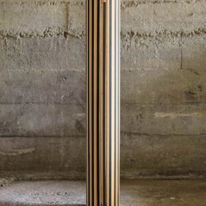 Form 53 Conic Lamp | Black Painted Edge Bamboo