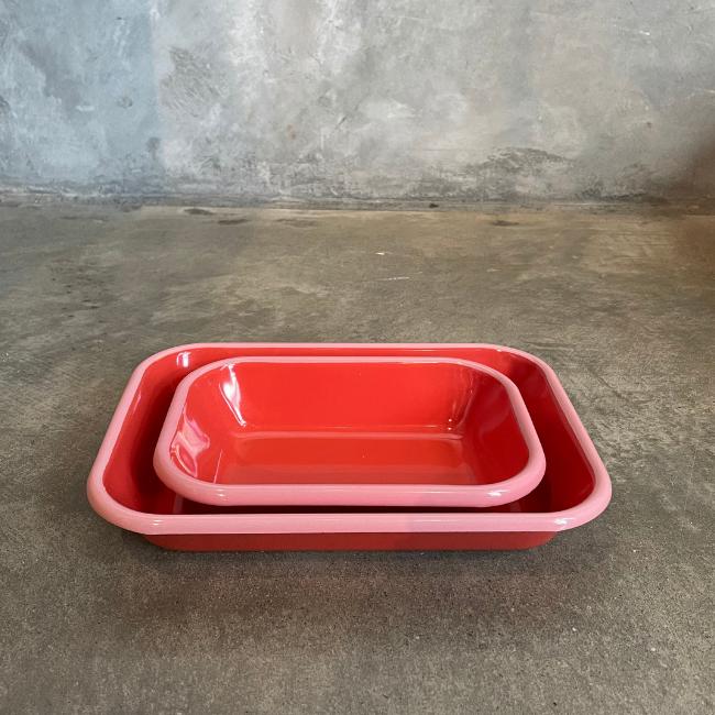 Colorama | Medium Baking Dish | Coral with Soft Pink Rim 21cm